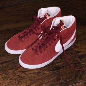 Red Nike Blazers size 10.5